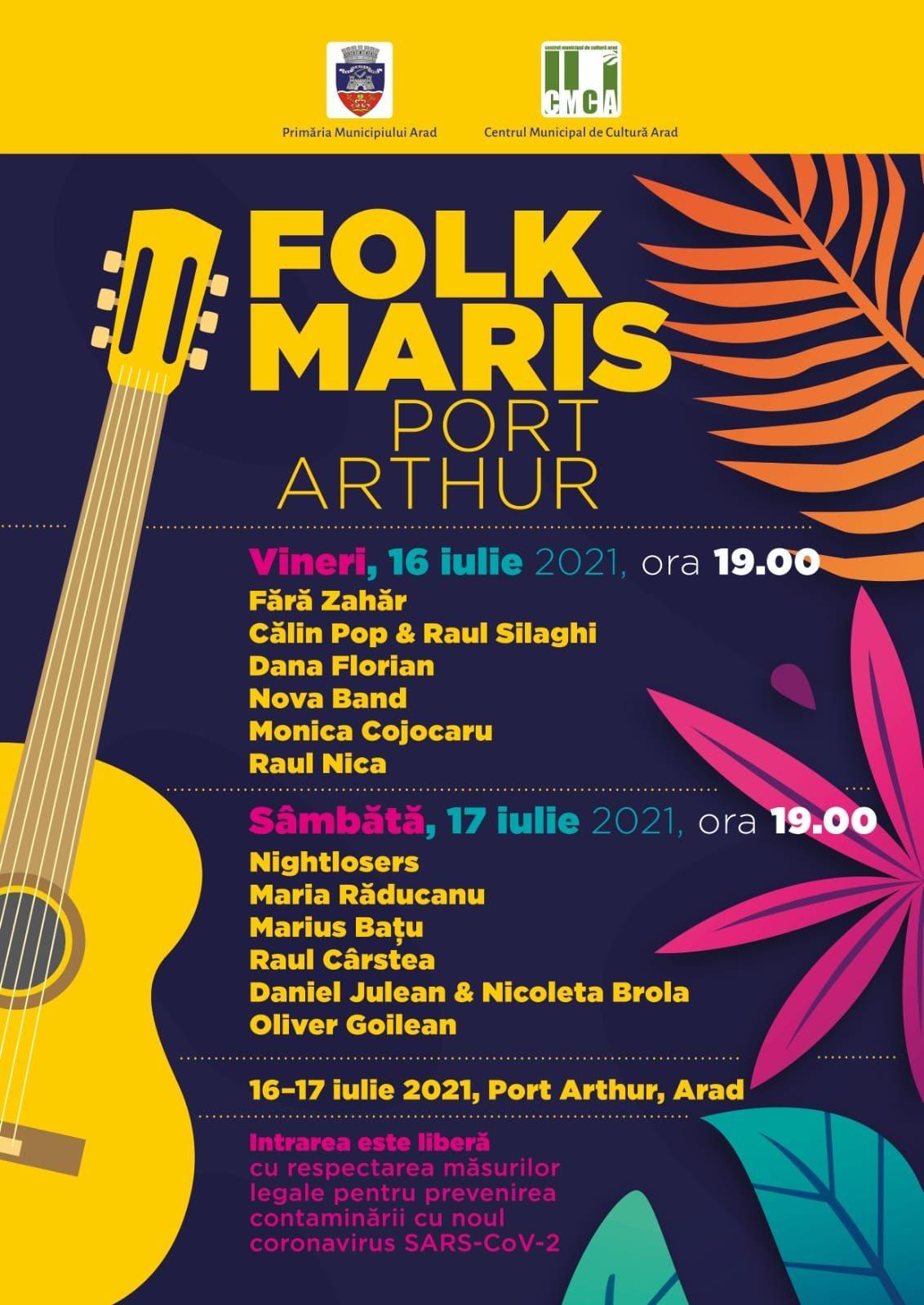"Festivalul ""Folk Maris"", ediția 2021, la Port Arthur"