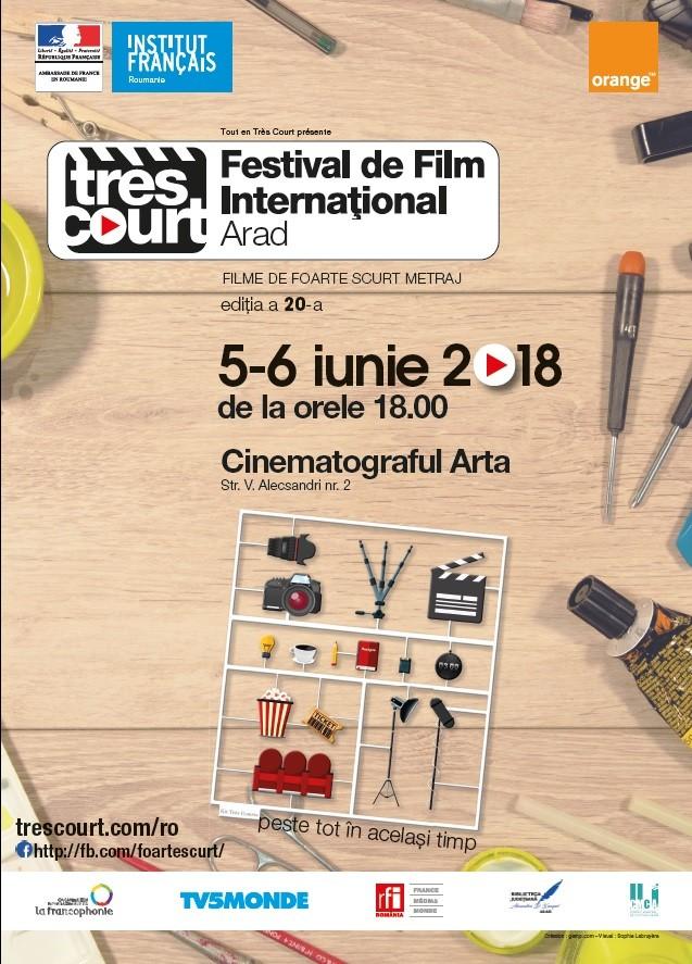 """Festivalul Internațional de Film de foarte scurt metraj """"Tres Court"""" la ediție aniversară"""
